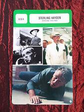 STERLING HAYDEN  - MOVIE STAR - FILM TRADE CARD - FRENCH