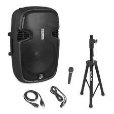 "PPHP155ST 15"" 1500W Portable Bluetooth Speaker FM Radio W/ Stand & Mic"