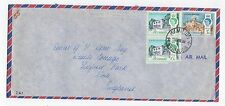 1964 BERMUDA Air Mail Cover HAMILTON To YORK GB Waterloo House SG165 SG168