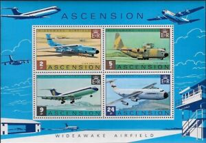 Ascension 1975 Wideawake Airfield - Airforce Planes S/S MNH, Sc #188a - ow872