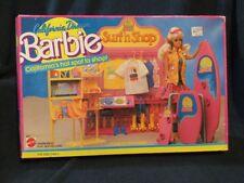 VINTAGE 1987 BARBIE DOLL BEACH  SURF 'N SHOP PLAYSET New In Box