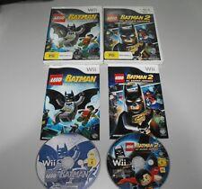 Lego Batman The Video Game & Batman 2 Dc Super Heroes For Nintendo Wii