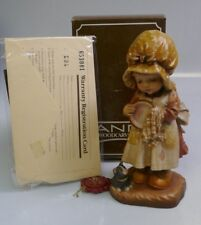 """Anri """"Helping Mother"""" 6"""" Hand Carved Wood Figurine By Sarah Kay - Mint in Box"""