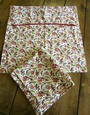 Set of 2 Ikea Alvine Gava Floral Cushion Covers Ivory Red Multi Color 19 x 19
