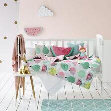 Adairs Kids Fruit Loop Cot Quilt Cover Set - Apple Watermelon Reversible