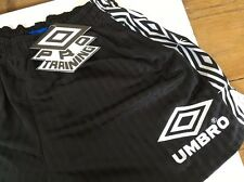 "Vintage Euro '96 Umbro football shorts 30"" S Black Rare OG England Rio Training"