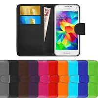 Premium Luxury Leather Flip Wallet Book Case Cover For Samsung Galaxy S5 Mini