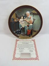 """Norman Rockwell Gallery Collector Plate 8"""" The Toy Maker 3D w/ Coa & Box -1771 1"""