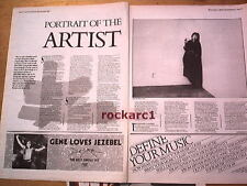 JONI MITCHELL portrait of the artist 2 page UK ARTICLE / clipping 1985