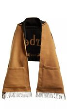 Burberry Hooded Scarf With Logo