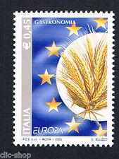 ITALIA UN FRANCOBOLLO EUROPA CEPT GASTRONOMIA SPIGHE DI GRANO 2005 nuovo**