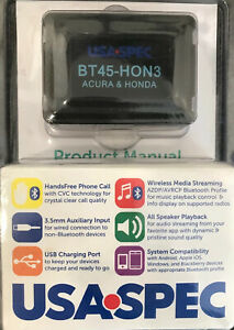 ACURA Bluetooth hands-free + streaming music  Android/iPhone USA SPEC BT45-HON3