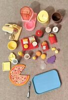 1980s and 1990s Vintage Barbie Food and Kitchen Accessories (27 pieces!)