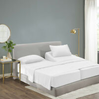 Split King Size Cool Bamboo Bedsheet Deep Pocket Bamboo Sheet sets 5 Pieces