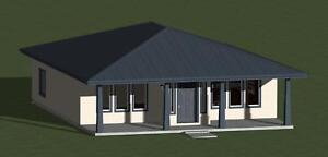SQUARE HOUSE PLANS 1055 SQ.FT. WITH ENERGY-EFFICIENT FEATURES