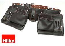 Hilka 77705002 - Cintura Porta-attrezzi doppia in Pelle conciata All'olio Robust