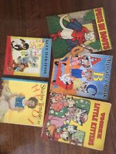 Lot of 5 Antique Vintage Children's Books ABC Puss in Boots Little Kittens