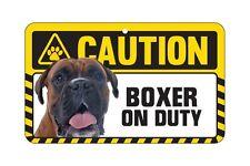 Dog Sign Caution Beware - Boxer