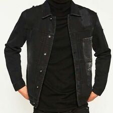 Waist Length Button Cotton Collared Coats & Jackets for Men
