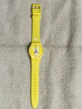 Kozik Kidrobot Yellow Swatch Wrist Watch, New Battery minimal used condition