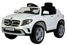 Mercedes GLA Licensed 12V Kids Ride-On Car Remote Control and A/C White