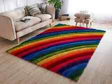 FUNKY RAINBOW DESIGN RUG SMALL LARGE  SOFT THICK CARVED PILE NEW ALL FLOORS 2018
