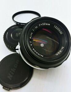 Nikon NIKKOR-SC fast F/1.4 50mm manual Lens LIKE NEW
