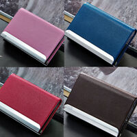 PU Leather Aluminum Business Credit Card Name Id Card Holder Case Wallet Box