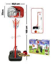 Panier Basket-Ball Refermable Avec Lampadaire Et Panneau Rangement Taille CM 166