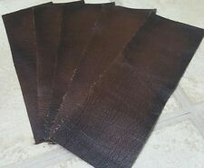 """Brown rub off 100% leather you get 4 pices 9"""" x 3""""  Quality offcuts 1.1mm thick"""