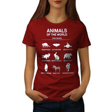 Wellcoda Animals Funny Cute Womens T-shirt, Biology Casual Design Printed Tee