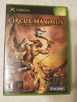 Circus Maximus: Chariot Wars (Microsoft Xbox, 2002) W/ Case & Manual Very Good!