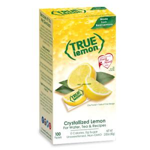 True Lemon Drink Mix 2.82 Oz Lemon 100 Packets Pack Of 1
