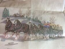 Vtg Candamar Designs Something Special Needlepoint Kit 1979 Clydesdales #30054