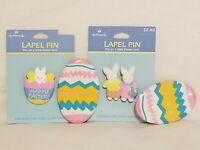 Lot Of 4 Easter Lapel Pins Jewelry Hallmark Bunnies Eggs
