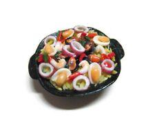 Dollhouse Miniature Seafood Risotto on Pot Food Deco