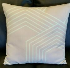 NEW Cushion Cover Modern 45x45 Grey Mint Bedroom Geometric Lines Throw Couch