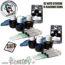 Pack X2 kits Encre Couleur HP920 Recharge Jet d'encre