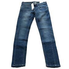 """Adidas Neo Womens Blue Skinny Stretch Denim Jeans Waist 29"""" Leg 32"""" NEW"""