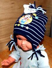 BONNET PERUVIEN CHAPEAU BLEU RAYE DOUBLE POLAIRE MICKEY DISNEY NEUF BEBE ENFANT