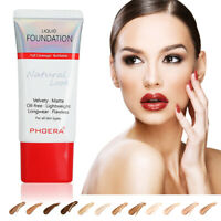 PHOERA 30ml Full Coverage Foundation Makeup Skin-Friendly Base Oil Long Lasting