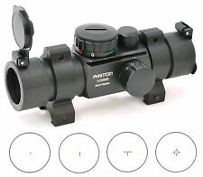 PHANTOM Reflex Multi Task Reticle Green Red Dot Scope Sight w/ Weaver Rings