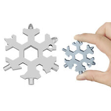 19 in 1 Stainless Multi-tool Snowflake Keychain Screwdriver Wrench Bottle Opener