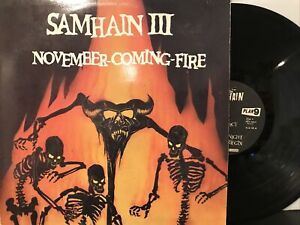 Samhain – November-Coming-Fire LP 1986 Plan 9 – PL9-07 VG/VG - 1st Press