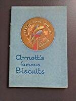 Original C. 1935 Arnott's Famous Biscuits Colour Catalogue 41 pg Envelope Scarce