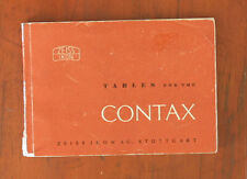 ZEISS TABLES FOR THE CONTAX/95680