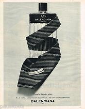 PUBLICITE ADVERTISING 055  1966  BALENCIAGA  eau de toilette pour Homme