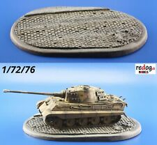 Redog 1/72 Smart Oval Diorama Display Base for Scale Model Tanks & Military D5