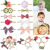 Knot  Floral Bowknot Hair rope Nylon Hairband Baby Headband Hair Accessories