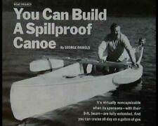 16' Canoe w/Pontoon Outriggers HowTo build PLANS Paddle or Outboard